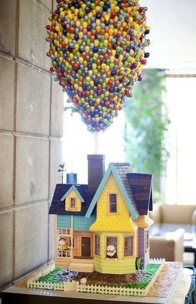 gateau anniversaire original,gâteau anniversaire enfant,gâteaux d`anniversaire pour enfant,gâteau pixar là haut,gâteau dessin animé là haut,gâteau en forme de maison