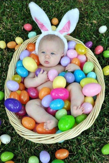 photo bébé de pâques