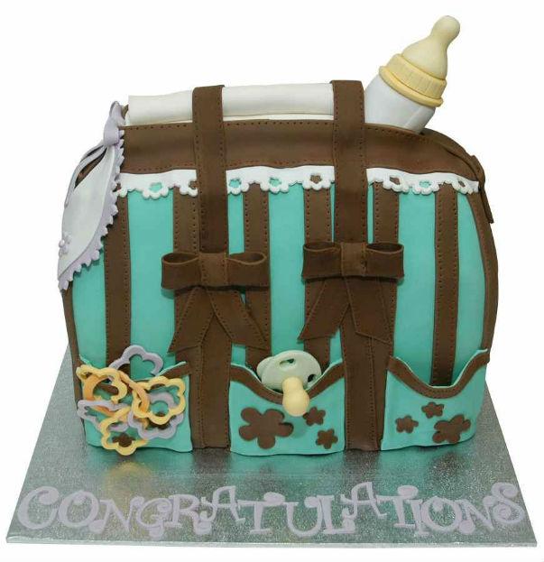 gateau anniversaire original,gâteau anniversaire enfant,gâteaux d`anniversaire pour enfant,gateau en forme de sac,gâteau originaal baby shower