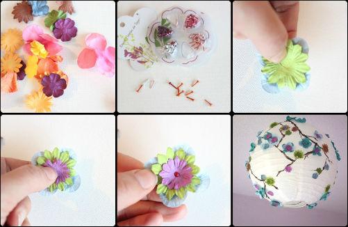 Tutorial luminaire fleurs, comment faire une suspension,suspension fleurs