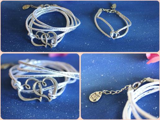 bracelets duo maman bébé, bracelet liberty bleu et coeur métal, parfait cadeau de naissance,fête des mères