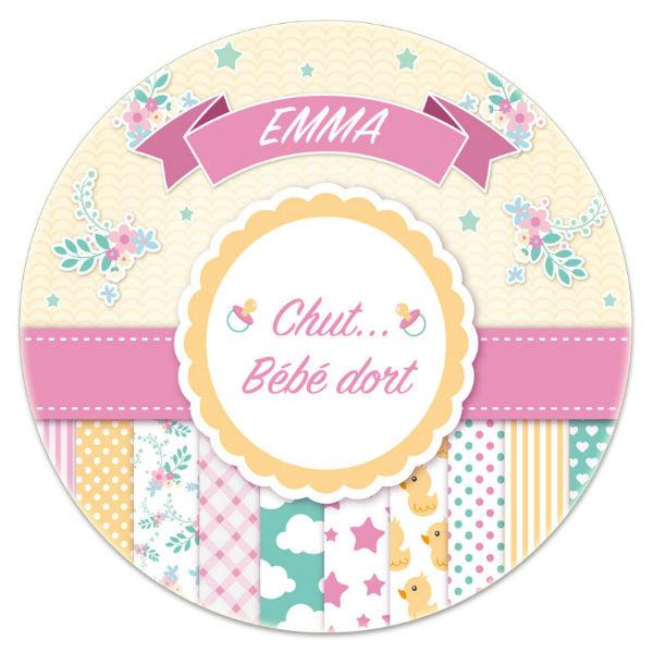 Plaque de porte personnalis e for Chut bebe dort pancarte