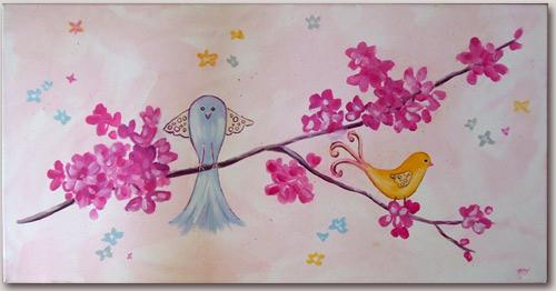 Tableau pour chambre fille d coration murale chambre enfant for Tableau pour chambre fille