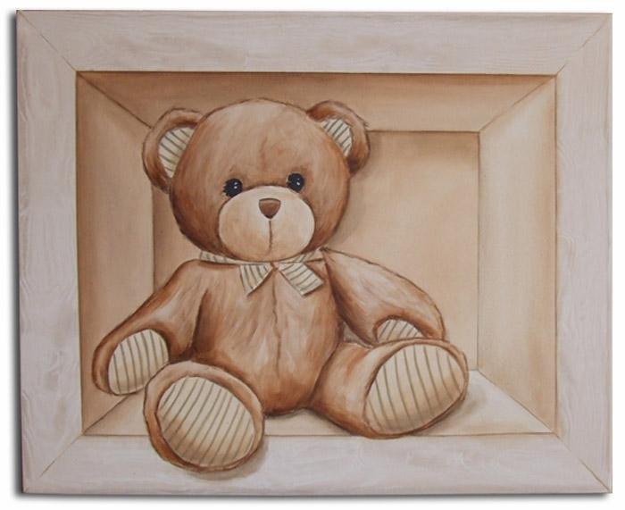 Tableau pour chambre de bébé,tableau peint en trompe l`oeil,décoration murale pour chambre de bébé,un idée originale pour un cadeau de naissance,tableau peint à la main pour enfant,tableau pour chambr